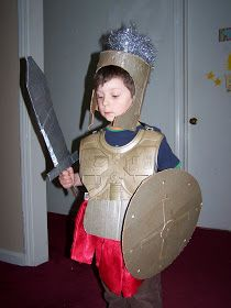 The Cardboard Crafter: Project Ideas: Roman Soldier Costume