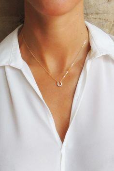 LUCKY YOU HORSESHOE NECKLACE - Christine Elizabeth Jewelry™ | Glamour and Glow