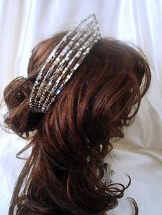 Roaring Twenties Headpieces | Roaring Twenties Bridal Tiara 1920s Crown Wedding Hair Piece Crescent ...
