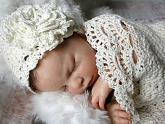 Ravelry: Seaside Cottage Cocoon / Snuggle Sack and Hat pattern by Betty Fay Wallace