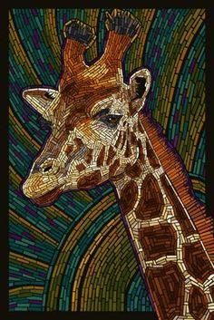 Giraffe - Paper Mosaic - Original Stylish Art Print