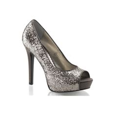 Women's Fabulicious Lumina 27G - Charcoal Glitter Dress ($56) ❤ liked on Polyvore featuring black