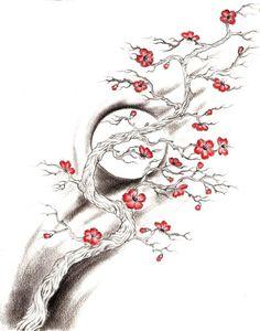 Viewing Gallery For - Cherry Blossom Tree Drawing Step By Step tree tattoo Leg Tattoos, Body Art Tattoos, Sleeve Tattoos, Tatoos, Cherry Blossom Tree, Blossom Trees, Tatuaje Grim Reaper, Colombe Tattoo, Trendy Tattoos