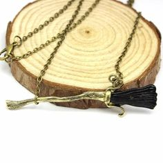 Harry Potter Magic Broom Necklace