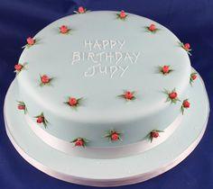Pretty birthday cake