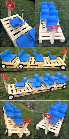 DIY Ideas for Wood Pallet Recycle Art Rethink your living space with this exceptional pallet kids bus. The best lifts up and forward making a multipurpose pallet structure so you can telecommute with kids or your kids take a bite while playing. Wood Pallet Recycling, Recycled Pallets, Recycled Art, Wooden Pallets, Recycled Garden, Wooden Diy, Recycled Materials, Pallet Kids, Diy Pallet Projects