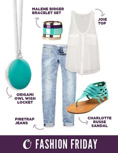 Casual and cute outfit paired with our Origami Owl wish locket!