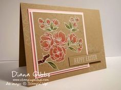 Stampin' Up! ... handcrafted card: Indescribable Gift by Diana Gibbs ... white embossed on kraft base ... colored ... luv the warn look ...
