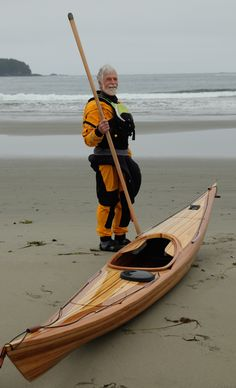 Wood strip kayak plans for an all-around, fast, mid-sized, British-style sea kayak. It combines the speed of a touring boat with the playfulness of a day boat. Canoe Camping, Canoe And Kayak, Kayak Fishing, Fishing Boats, Canoe Trip, Kayaks, Canoe Plans, Wooden Boat Plans, Sailboat Plans