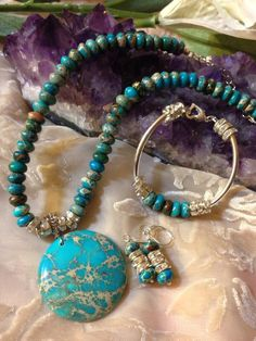 Ex 28:20, 39:13, Job 28:18, Ezek 28:13, Rev 4:3, 21:11,18,19 Read more about JASPER  bible source at http://www.preciousstonesofthebible.com/stonegallery.html  Blue Sky Jasper Jewelry Set. $125.00, via Etsy.