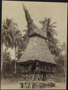 Para, huis voor jonge mannen, Papoea Nieuw-Guinea 1887-1900 R. Parkinson
