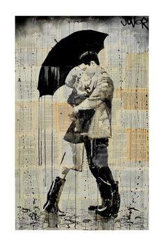 Black Umbrella Canvas Wall Art