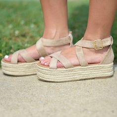 b6d1a4d56e Walk This Way Summer Wedge Espadrille from Cousin Couture.   Let's ...
