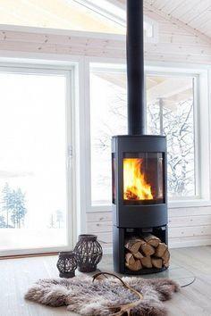 Freestanding Fireplace on Pinterest
