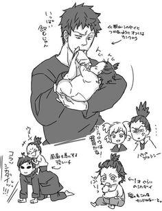 Uncle Kankuro, Uncle Gaara, Shikadai, Shikamaru, and Temari Anime Naruto, Anime Ninja, Naruto Cute, Naruto Funny, Manga Anime, Yamanaka Inojin, Shikadai, Naruto Y Boruto, Shikatema