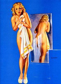 Gil Elvgren Art | Gil Elvgren - Double Exposure (1942)