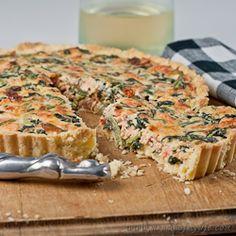 Salmon and Spinach Quiche - gluten-free & low FODMAP -