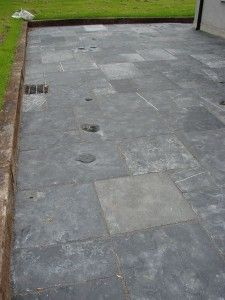 Black limestone Antique,Our Antique treated limestone is characterized by its rich black color and old looking exl. Limestone Patio, Black Slate Floor, Studio Shed, Paving Slabs, Black Indians, Slate Flooring, Natural Stones, Stepping Stones, Courtyards
