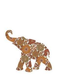 Elephants: Illustrations (silhouette) on Pinterest   Elephant ...