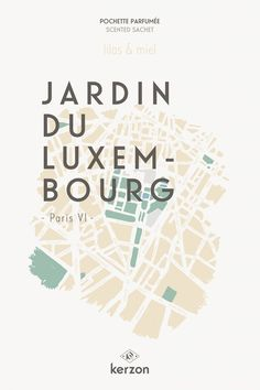 JARDIN DU LUXEMBOURG - Pochettes parfumées Kerzon
