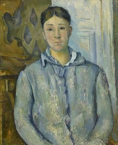 PAUL CÉZANNE   French, 1839 - 1906   Madame Cézanne in Blue   1888–90   Oil on canvas   29 3/16 x 24 inches  The Museum of Fine Arts, Houston