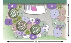 zum nachpflanzen rosen und stauden gekonnt kombiniert pflanzplan g rten und staudenbeet. Black Bedroom Furniture Sets. Home Design Ideas