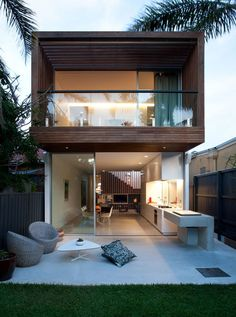 41 Delightful Minimalist Home Architecture Design Ideas That You Must See - Minimalist home designs are often chosen by house owners these days to refurbish or build their properties, because their simple and seamless style ma. Container House Design, Small House Design, Modern House Design, Minimalist House Design, Minimalist Home, Casas Containers, Small Modern Home, Narrow House, Box Houses