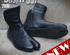 Ninja botas cuero Burning Man Festival Ozora por DUSTYFOOTClothing