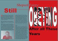 double page magazine spread Shepard Fairey - Google Search Magazine Spreads, Google Search