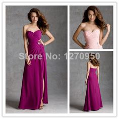 Elegant Sweetheart Party Dress Pink Bridesmaid Dresses Long Gown AnkleLength 2014 With Beading New Arrival-in Bridesmaid Dresses from Apparel & Accessories on Aliexpress.com | Alibaba Group