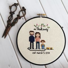 'The family is one of natures masterpieces' - George Santayana This little hoop finally reached its Italian destination! -- Click the link in my profile to get started on your masterpiece! Bit.ly/clothandtwig -- #clothandtwig #crossstitch #abmcrafty #craftsposure