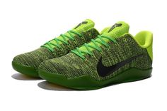 newest 36a32 cdd81 Sale Kobe 11 XI Flyknit Grinch Christmas Poison Green Volt New Arrival 2016