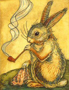 CRP - Mr. Rabbit w/Pipe