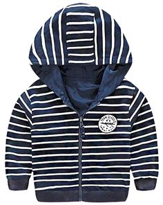 """Yayu Kids Cute Boys Fashion Stripe Letter Embroidery Hooded Jackets 5T blue. 1 or 2 Sizes Up Suggested as ours are Chinese Size. US 3y:Length:14.96""""(38cm) Bust:14.17""""(36cm) Sleeve:13.39""""(34cm). US 4y:Length:15.35""""(39cm) Bust:15.35""""(39cm) Sleeve:14.96""""(38cm). US 5y:Length:16.93""""(43cm) Bust:15.75""""(40cm) Sleeve:15.35""""(39cm). US 6y:Length:18.11""""(46cm) Bust:16.14""""(41cm) Sleeve:16.14""""(41cm)."""