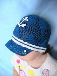 Crochet Baby Boy Hat Anchor Hat From Milavikids On Etsy
