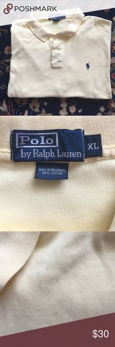 """Polo Men's Classic and simple. The style, comfort and quality you expect from Polo. In excellent condition with third image showing a small pen mark by collar. 25.25"""" underarm to underarm and 28"""" L Polo by Ralph Lauren Shirts Polos"""