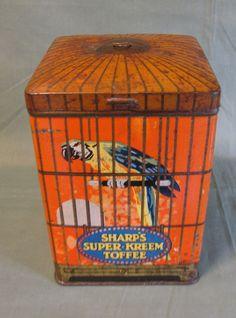 Vintage Sharp's Super-Kreem Toffee Tin♥♥