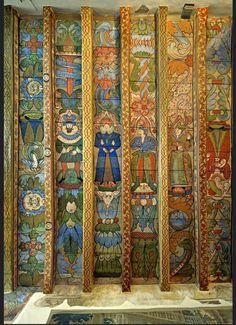 Crathes Castle, Scotland. ceiling c1599. Medieval Castle, Medieval Art, Painted Ceiling Beams, Faux Paint Finishes, Art Decor, Decoration, Surface Art, D House, Scottish Castles