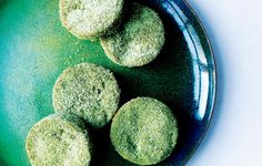 Powdered green tea gives these tender cookies an elf-worthy hue that will stand out, with no icing or decorating needed.