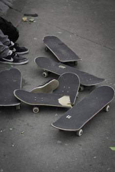 skateboards. Oops looks like one got broke! Nice plain boards!!