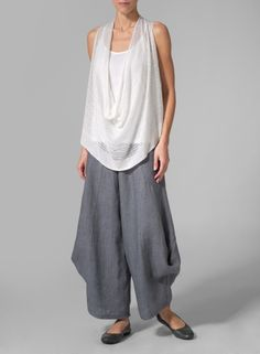 MISSY Clothing - Linen Over Top Knit