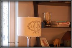 DIY burlap and lace lampshade