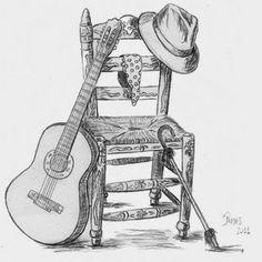 JAIME BIENVENIDO: HOLA A TODOS Y FELIZ 2015, LES RECUERDO QUE COMENZ... Art Drawings Sketches Simple, Cute Drawings, Pencil Drawings, Save Water Drawing, Note Tattoo, Winter Project, Guitar Art, Dance Art, Pictures To Paint