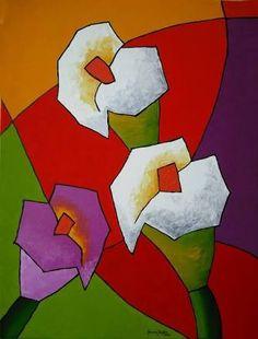 Resultado de imagen para tela tulipas pintura moderna