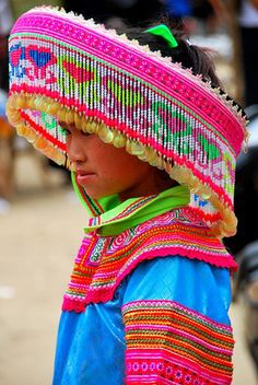 Hmong ~ the colorful flower people hilltribe, South- East Asia