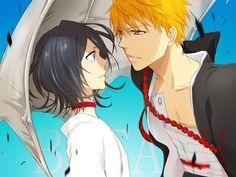kuchiki rukia and kurosaki ichigo (bleach) drawn by 3 - Danbooru Bleach Ichigo And Rukia, Kuchiki Rukia, Bleach Manga, Anime Love Story, I Love Anime, Hot Anime Couples, Otaku, Clorox Bleach, Bleach Couples
