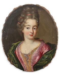Artwork by French School, 17th Century, Portrait de jeune fille,