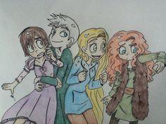 (Fan art) Merida, Rapunzel, Jack et Hiccup - The Big Four - Page 24