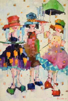 Angela Morgan is an oil on canvas artist represented by the Shayne Gallery. Angela Morgan est un artiste d'huile représentée par la Galerie Shayne .
