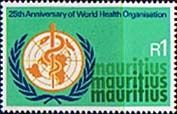 Mauritius 1973 World Health Organisation Fine Mint SG 468 Scott 404  Other Mauritius Stamps HERE